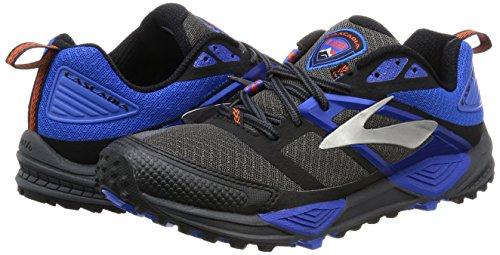 Trail Bleu Pour Chaussures De lectrique Hommes Course Brooks anthracite 098 12 Cascadia Noir Multicolores Z40F0qa