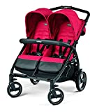 Peg Perego Book for Two Baby Stroller-Mod Red For Sale