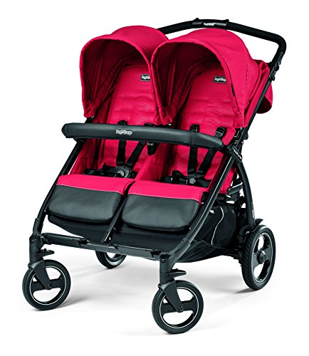 Peg Perego Book for Two Baby Stroller-Mod Red