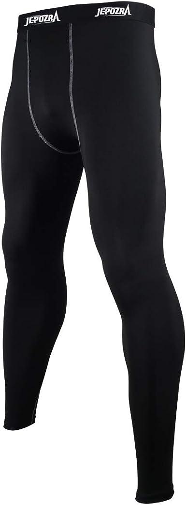 JEPOZRA Mallas Running Hombre Leggings Deporte Largo Pantalones de Compresión Mallas de Fitness Yoga