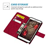 Note 4 Case,Galaxy Note 4 Case - MOLLYCOOCLE Natural Luxury Hot Pink Stand Wallet Purse Credit Card ID Holders Flip Folio TPU Soft Bumper PU Leather Ultra Slim Fit Cover for Samsung Galaxy Note 4