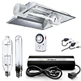 iPower 600 Watt HPS MH Digital Dimmable Grow Light System Kits Cool Tube Reflector Set XL Wing