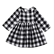 Gotd Toddler Infant Baby Girl Boy Clothes Winter Long Sleeve Princess Dress Christmas Autumn Outfits Gifts (6-12 Months, Black)