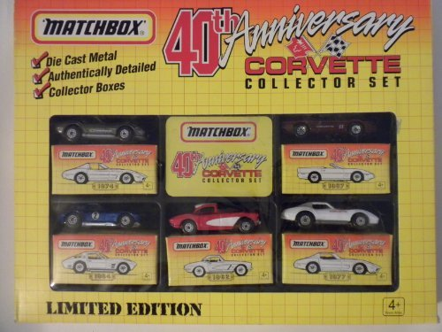 - Matchbox: 40th Anniversary Corvette Collector Set - Limited Edition