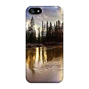 VeonNXA1309yUBdh Faddish The Golden Lake Reflection Case Cover For Iphone 5/5s