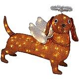 LED Lighted Tinsel Dachshund Dog 21.25 inch