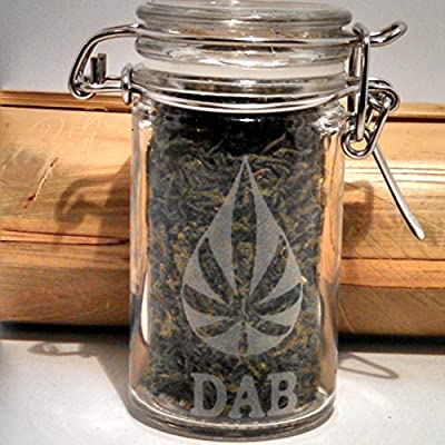 Amazon com : Twisted420Glass Dab Jar - Cannabis Oil Shatter Etched