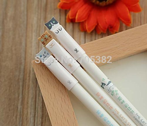 Gel Pen. Kawaii Cute Cat Design Gel Pen ,Office Supply by Office & School Supplies YingYing (Image #3)