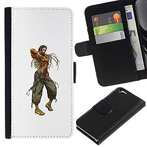 LECELL--Cuero de la tarjeta la carpeta del tirón Smartphone Slots Protección Holder For Apple Iphone 6 -- Mujer de Rasta --