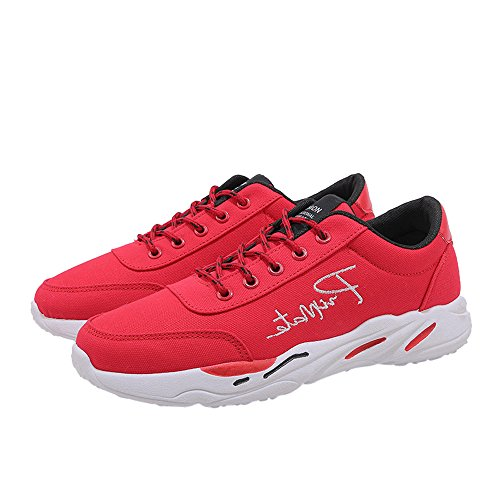 Men Comfortable Breathable Outdoor Sports Shoes Lace Red Sneakers up Running drwqdxRHU