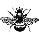 Stampers Anonymous Donna Salazar Cling Stamp, 1.25 x 1.75-Inch, Queen Bee