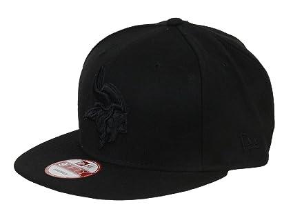 83e96a8c87e New Era NFL Minnesota Vikings Black On Black Snapback Cap 9fifty Limited  Edition