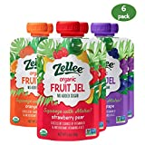 Best Perfect Organic Gelatins - Zellee Organic Fruit Jel Snack Pouch- Organic Review
