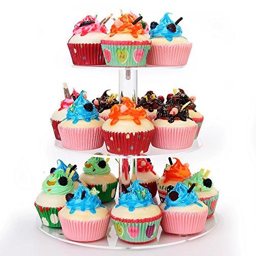 weddingwish 3 Tier Round Acrylic Cupcake Stan(New) … … by weddingwish (Image #3)