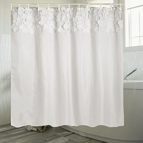Cheap JOSSOIOJ White Shower Curtain Fabric/Ruffle for Bathroom (72 X 72 Inch) supplier