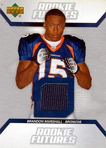 Amazon.com: Brandon Marshall player worn jersey patch football ...