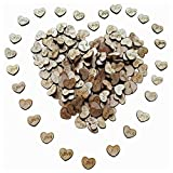 SODIAL(R) 100pcs Rustic Wooden Love Heart Wedding Table Scatter Decoration Crafts