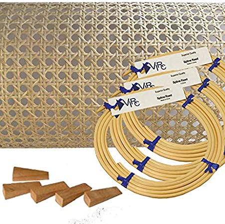 "Wedges Spline Breuer Instruction Booklet, Pressed Cane Webbing Kit 18/""x18/"""