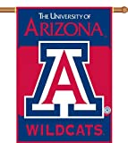 NCAA Arizona Wildcats 2-Sided 28-by-40 inch House Banner with Pole Sleeve For Sale