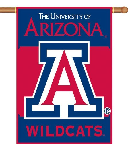 Pole Ncaa Merchandise (NCAA Arizona Wildcats 2-Sided 28-by-40 inch House Banner with Pole)