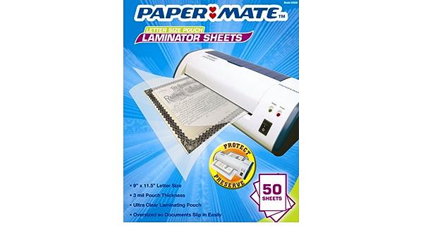 PAPERMATE Letter Size Laminator Pouches 50pk