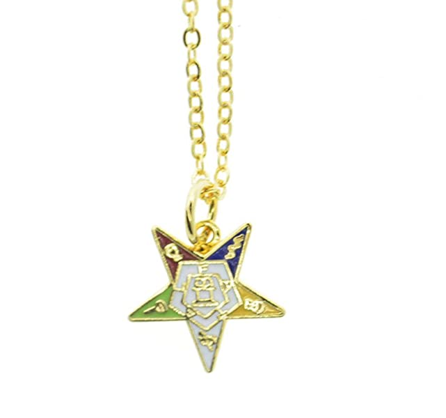 Oes Dangling Pendant With Order Of The Eastern Star Symbolism