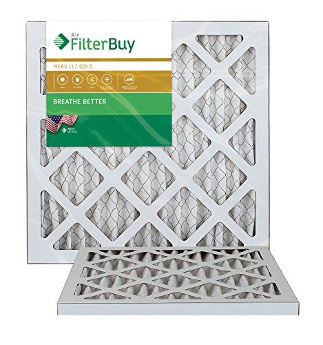 AFB Gold MERV 11 16x18x1 Pleated AC Furnace Air Filter. Pack of 2 Filters. 100% produced in the USA.