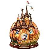 Disney's Enchanted Pumpkin Castle Illuminated Halloween Sculpture by The Bradford Exchange