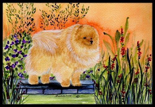 Multicolor Carolines Treasures SS8161MAT Pomeranian Indoor Outdoor Doormat 18 x 27
