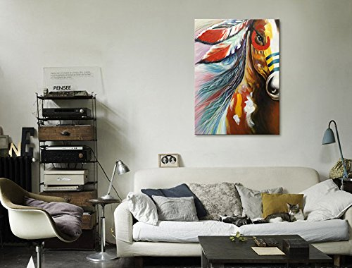 bb184f278af Large Horse Oil Painting Hand Painted Animal Canvas Wall Art Handmade Abstract  Modern Artwork 36x48 inch