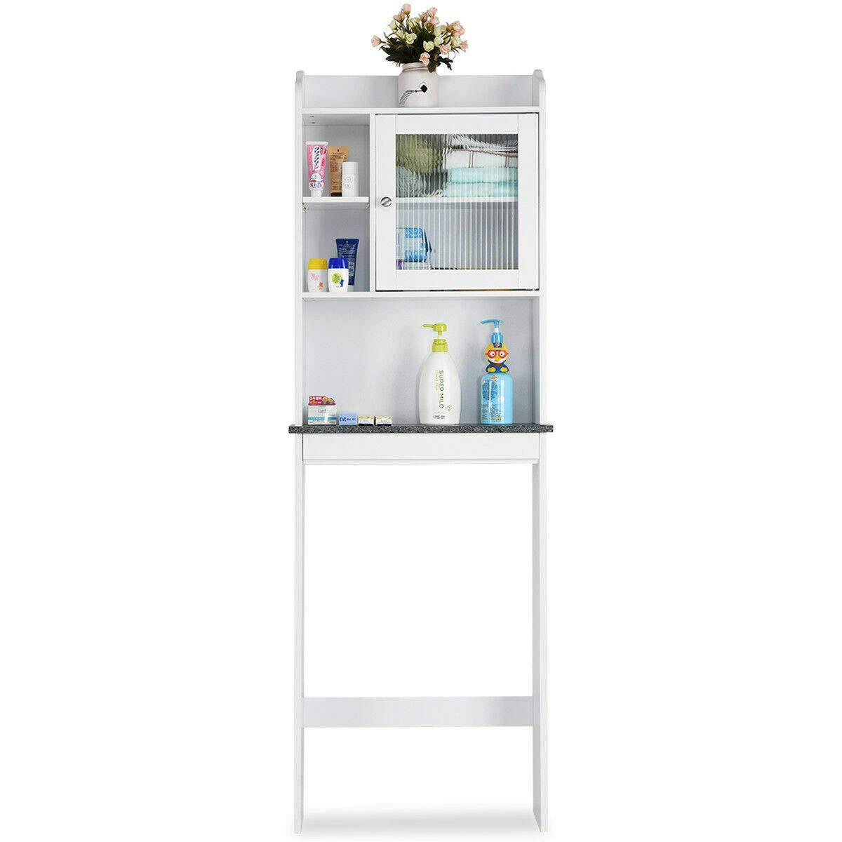 allgoodsdelight365 Over-The-Toilet Bath Cabinet Bathroom Space Saver Storage Organizer White