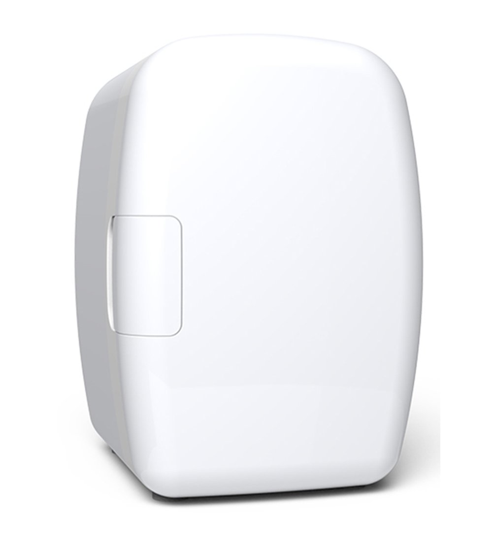 LIQICAI 6L Elektrische Kühlbox Auto Minikühlschrank Warmkühle/12V DC (Auto)/220V AC (Zuhause), Leicht Zu Tragen (Farbe : Weiß)