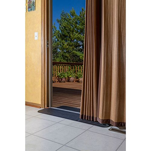 Silver spring 1 solid rubber power wheelchair threshold for Solid patio doors