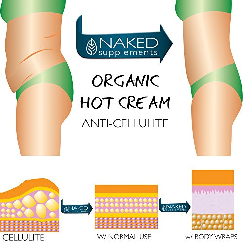 Organic Hot Cream-Cellulite Cream-Muscle Rub-Slimming Cream-Pain Relief-Body Wraps-Belly Fat-Skin Firming & Weight Loss-Professional Therapeutic Grade-Doctor Formulated