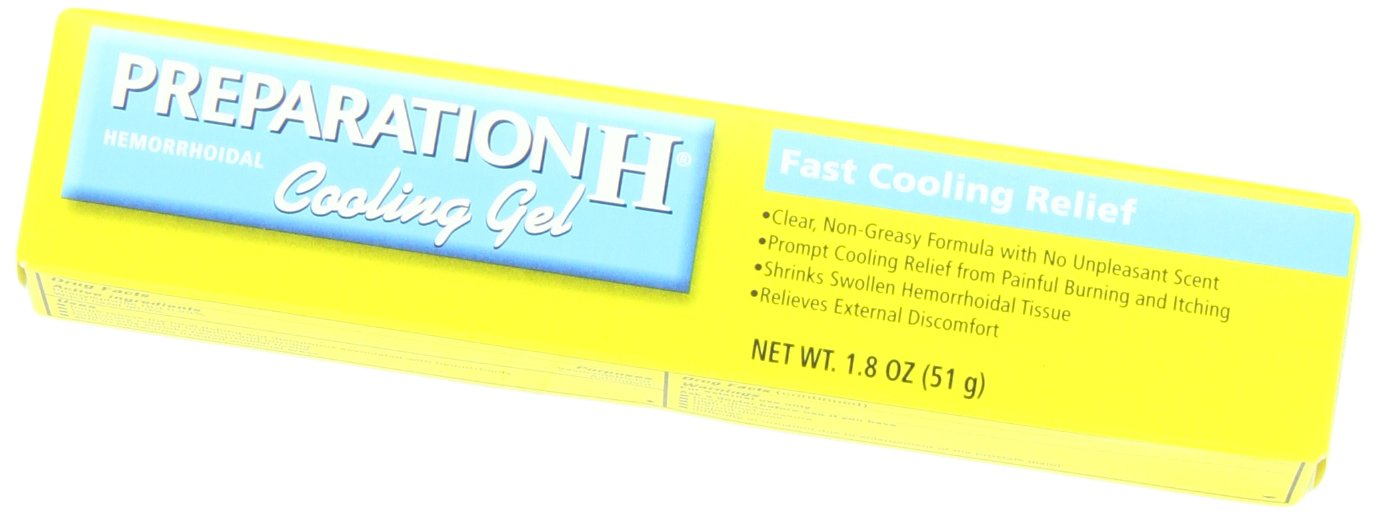 Preparation H Hemorrhoidal Cooling Gel with Vitamin E and Aloe, 1.8-Ounce Tubes (Pack of 2) by Preparation H
