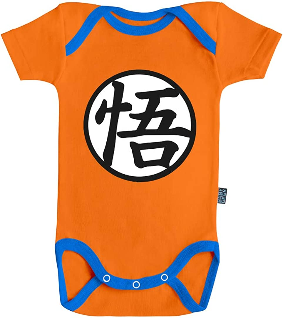 Licence Officielle Dragon Ball Super Body B/éb/é Manches Courtes Super Saiyan Divin Baby Geek Goku et Vegeta