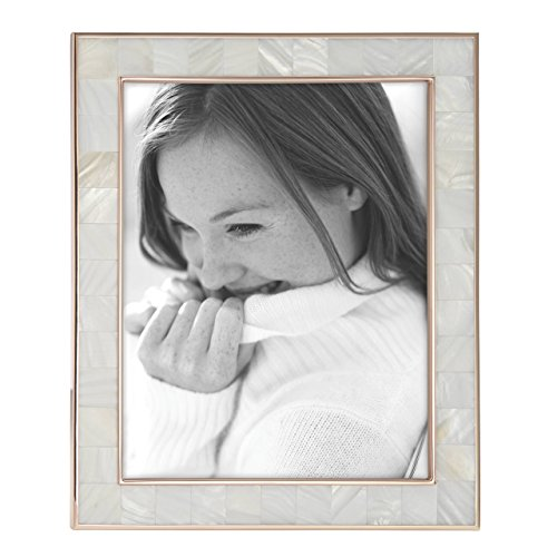Reed & Barton Mother of Pearl Rose Gold 8x10 Frame ()