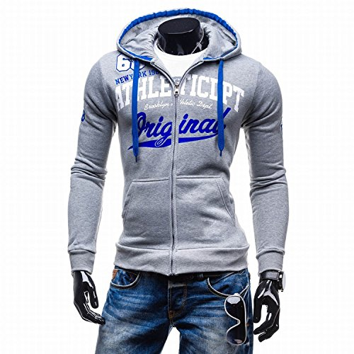 Amazon.com: Autumn Water Hoodies Men Sudaderas Hombre Hip Hop Mens Brand Letter Hooded Zipper Hoodie Sweatshirt Slim Fit Men Hoody XXL: Kitchen & Dining