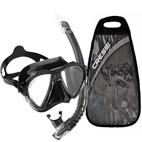 Cressi Matrix Mask  Gamma Snorkel Combo   Black Black