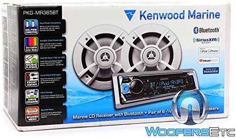 Kenwood PKG-MR362BT Marine CD Receiver with Bluetooth and 6.5 2 Way Speakers Package