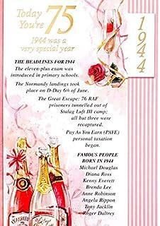 Simon Elvin 2019 75th Female Birthday Card