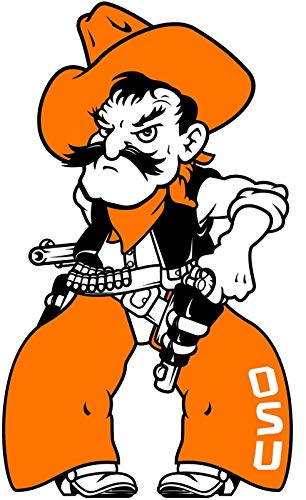 (Craftmag Vinyl Sticker Oklahoma State Cowboys Pistol Pete NCAA Premium Quality Decal Computer Cut Cars Bumpers Laptops Phones Water Bottles Walls, 3