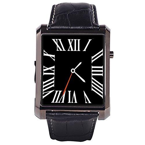 Tole Clock (LESHINE DM08 Bluetooth Smart Wrist Watch with HD Camera Anti-lost Information Synchronized Function - Black)