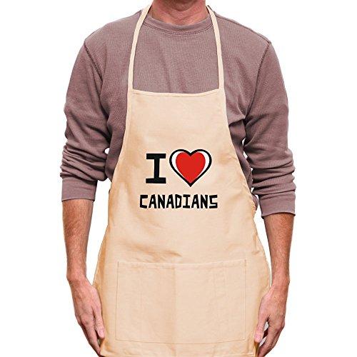 Teeburon I love Canadians Apron by Teeburon
