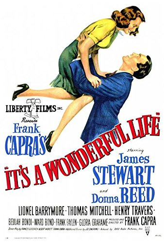 It's a Wonderful Life Movie POSTER 27 x 40 James Stewart, Donna Reed, A, MADE IN THE ()
