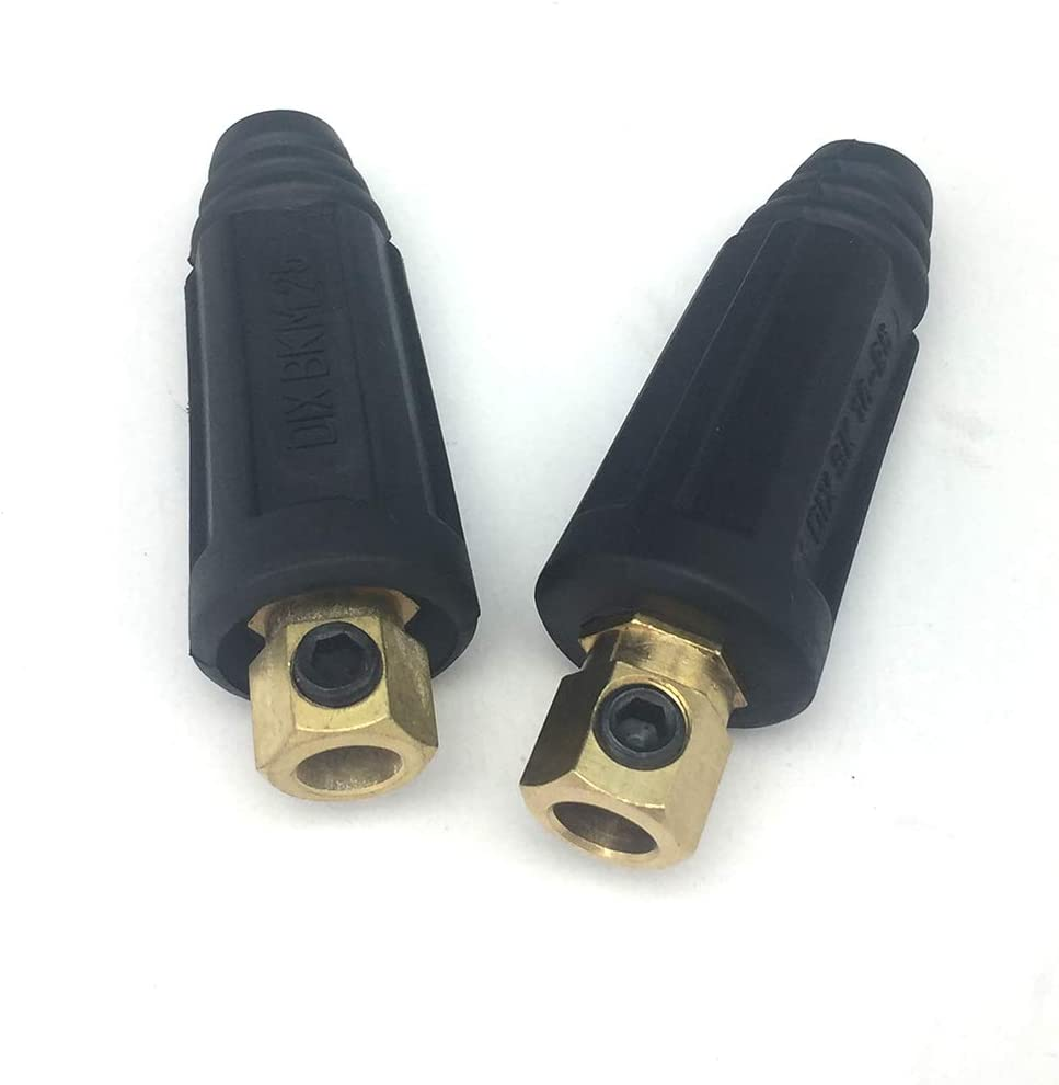 #6-#4 16-25 SQ-MM 2-set KINGQ Welding Cable Joint Quick Connector Pair DINSE-Style 100Amp-200Amp