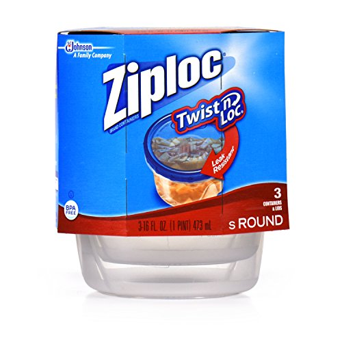 Ziploc Twist 'N Loc Containers, Small 3 Cup