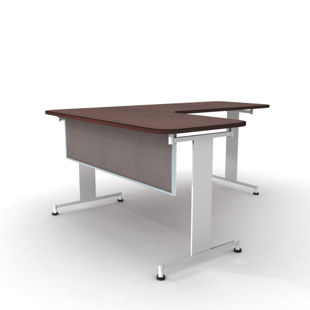 Obex 24X24A-A-PE-MP 24'' Acoustical Desk and Table Mounted Modesty Panel, Pewter, 24'' x 24''