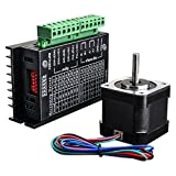Quimat Nema 17 Stepper Motor + Stepper Motor Driver,Bipolar 1.7A/24V 38mm Body 4-Lead Stepper Motor & 32 Segments 4A 40V 57/86 Stepper Motor Driver for 3D Printer/CNC