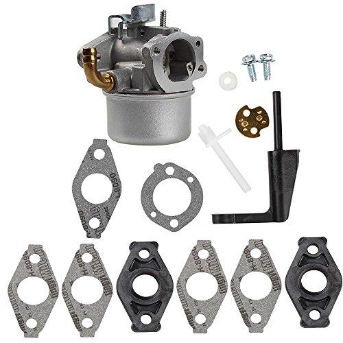Harbot 591299 Carburetor Carb with Spacer for Briggs Stratton 698474 791991 698810 698857 698478 694174 690046 693751 Lawn Mower& Craftsman Tiller Intek 190 6 HP 206 5.5hp - Intek Briggs Engine 6 Hp